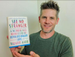 Ryan Piers Williams with See No Stranger book
